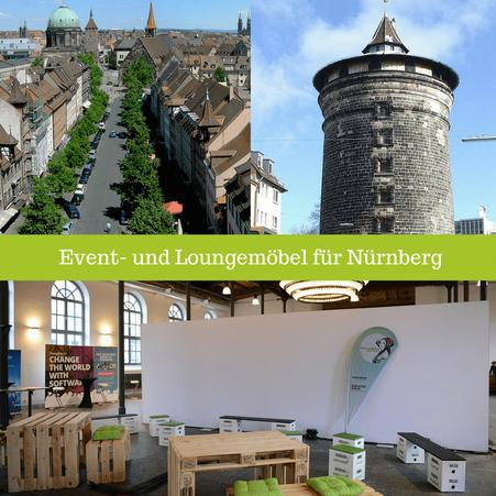 Eventmöbel mieten / Partymöbel Verleih & Vermietung in Nürnberg (Franken) und Umgebung
