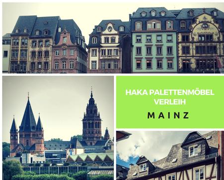 Eventmöbel mieten / Palettenmöbel Verleih & Vermietung in Mainz und Umgebung