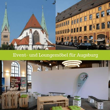 Eventmöbel mieten / Partymöbel Verleih & Vermietung in Augsburg (Bayrisch-Schwaben) und Umgebung