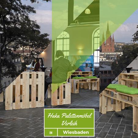 Eventmöbel mieten / Palettenmöbel Verleih & Vermietung in Wiesbaden (Rhein-Main-Gebiet) und Umgebung