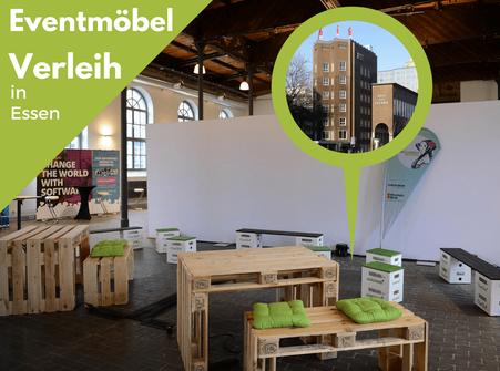 Eventmöbel mieten / Palettenmöbel Verleih & Vermietung in Essen (Nordrhein-Westfalen) und Umgebung