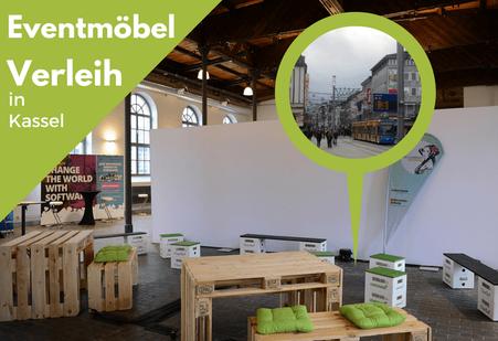 Eventmöbel mieten / Palettenmöbel Verleih & Vermietung in Kassel (Rhein-Main-Gebiet) und Umgebung