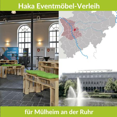 Eventmöbel mieten / Palettenmöbel Verleih & Vermietung in Mülheim an der Ruhr (Nordrhein-Westfalen) und Umgebung