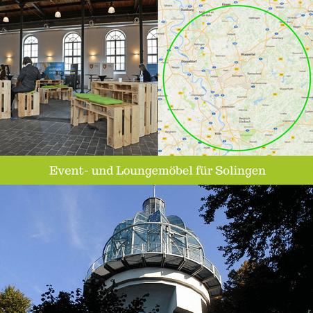 Eventmöbel mieten / Palettenmöbel Verleih & Vermietung in Solingen (Nordrhein-Westfalen) und Umgebung