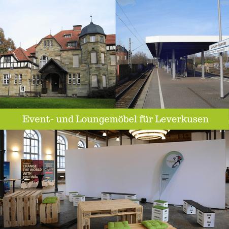 Eventmöbel mieten / Palettenmöbel Verleih & Vermietung in Leverkusen (Nordrhein-Westfalen) und Umgebung