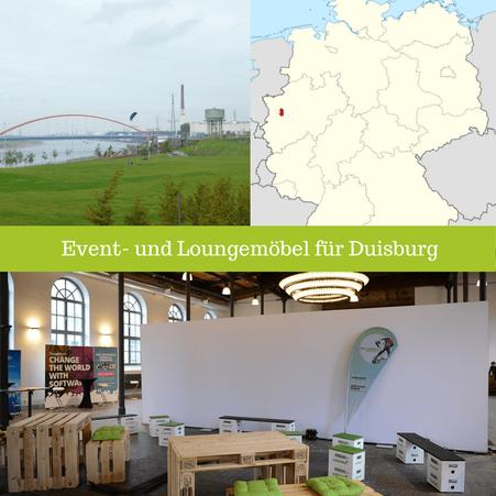 Eventmöbel mieten / Palettenmöbel Verleih & Vermietung in Duisburg (Nordrhein-Westfalen) und Umgebung