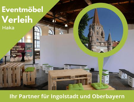 Eventmöbel mieten / Partymöbel Verleih & Vermietung in Ingolstadt (Oberbayern) und Umgebung