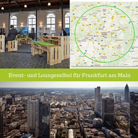 Eventmöbel mieten / Palettenmöbel Verleih & Vermietung in Frankfurt am Main (Hessen) und Umgebung
