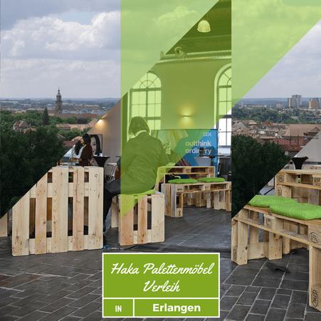 Eventmöbel mieten / Palettenmöbel Verleih & Vermietung in Erlangen (Mittelfranken / Bayern) und Umgebung