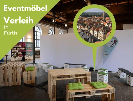 Eventmöbel mieten / Partymöbel Verleih & Vermietung in Fürth (Mittelfranken / Bayern) und Umgebung