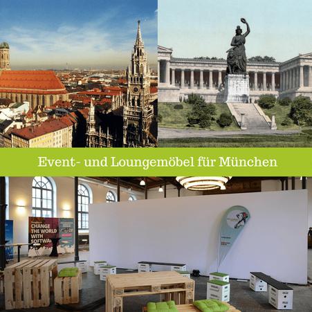Eventmöbel mieten / Partymöbel Verleih & Vermietung in München (Oberbayern) und Umgebung