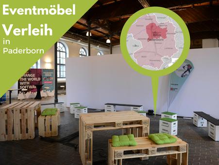 Eventmöbel mieten / Palettenmöbel Verleih & Vermietung in Paderborn (Nordrhein-Westfalen) und Umgebung