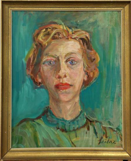 Rolf Seilaz (1904-1984) Odette Giacometti ca. 1965-1966 Oel auf Leinwand 41x33cm, Kunsthaus Zürich, Legat Bruno Giacometti, 2012 Inv.Nr 2012/103.