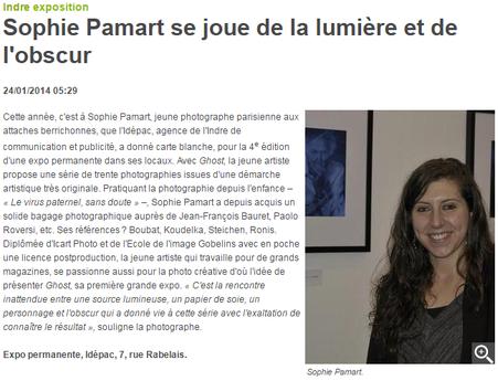 24/01/2014 : Sophie Pamart se joue de la lumière et de l'obscur - La Nouvelle République Indre