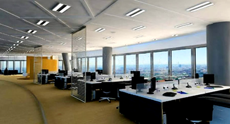 Ilulminación en oficinas