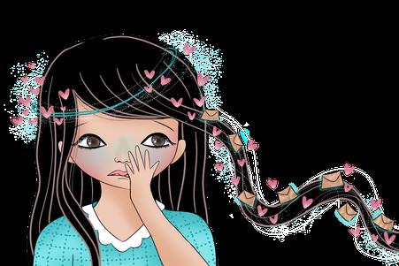 Cabochon avoir une peur bleue extrait du livre numérique gratuit Les montagnes russes écrit par Cloé Perrotin illustré par Fanny Offre via Majuscrit