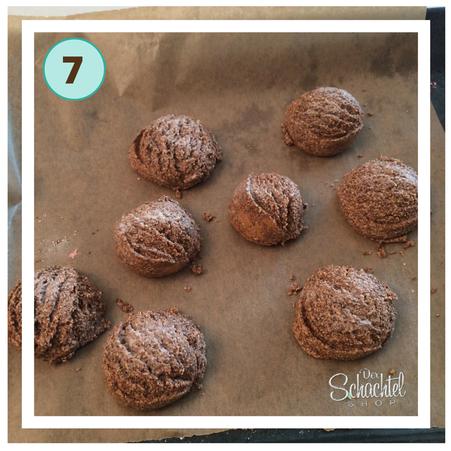 Schritt 7 für den oberen Teil der Schokoladeneis Badebomben