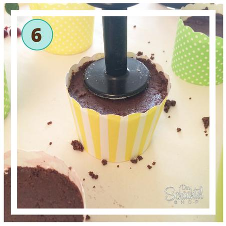 Schritt 5 für den unteren Teil der Schokoladeneis Badebomben