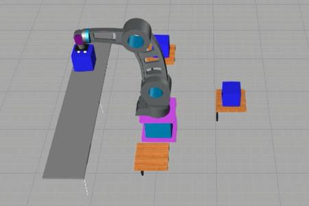 ▲ロボットシミュレーションソフトの画像