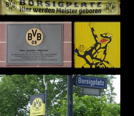 Fussballfieber Dortmund Borussia Dortmund Borsigplatz