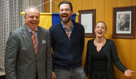 Der Termin im Rathaus Waldstettens mit Bürgermeister Michael Rembold (links) war nicht nur sehr vielversprechend, er hat allen Beteiligten auch noch sichtlich Spaß gemacht.