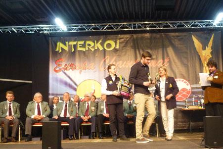 Tim Krüssel, Koi Europachampionat 2017 Preisverleihung