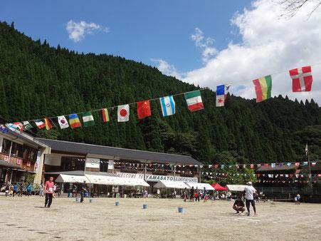 毎年9月に開催している、山郷区民大運動会の様子