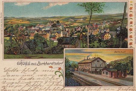 Der Bahnhof Burkhardtsdorf 1916