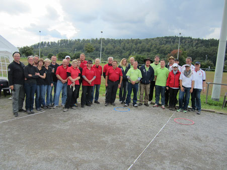 Regionalliga spieltag am 31.8.2014 in Alfeld. Team SSV Alfeld 1, 1.PC Göttingen 2, BC Altenhagen II 1 und TSV Rethen 1.