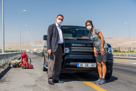Our personal hitchhike driver Soner and Viviane