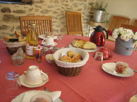 petit-déjeuner gourmand La Rousselie