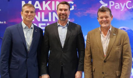 (Left to right) PayCargo's Brian Akers, VP Sales, Lionel van der Walt, CEO Americas, and Leo Hanon, Asst VP Operations - Image courtesy of PayCargo