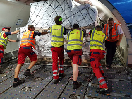 Swissport ground handling staff pushing surcharges ahead  -  image courtesy of Swissport