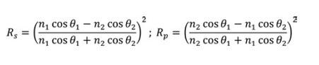 式1 S偏光とP偏光の反射率