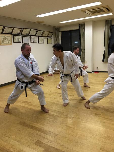 Training bei Tokuno Sensei, Osaka 2016