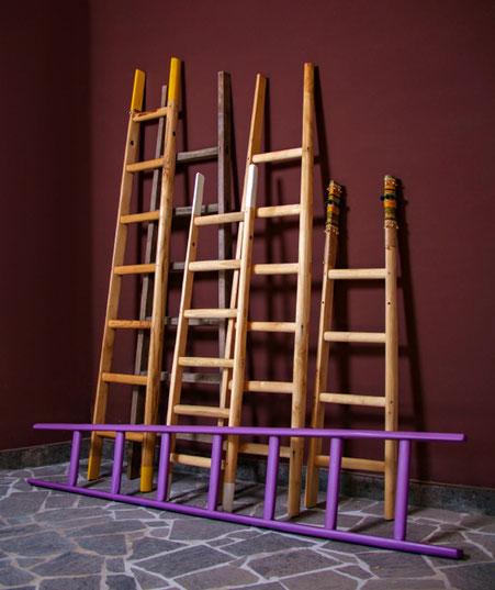 scale a pioli artigianali, handcrafted wood ladders