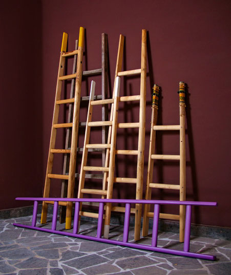 scale a pioli artigianali, handcrafted wood ladders