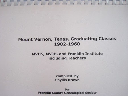 Cover of Mount Vernon, Texas, Graduating Classes, 1902-1960