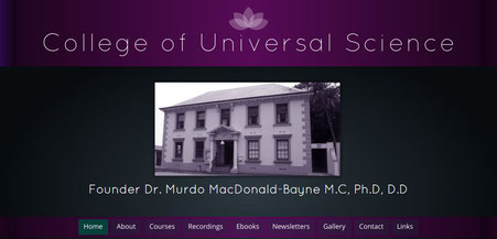 College of Universal Science, Founder Dr. Murdo MacDonald-Bayne M.C, Ph.D, D.D