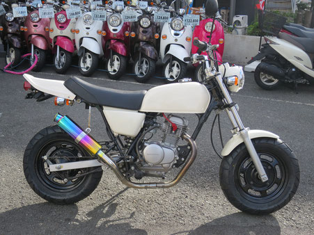 Ape50  レインボーマフラー