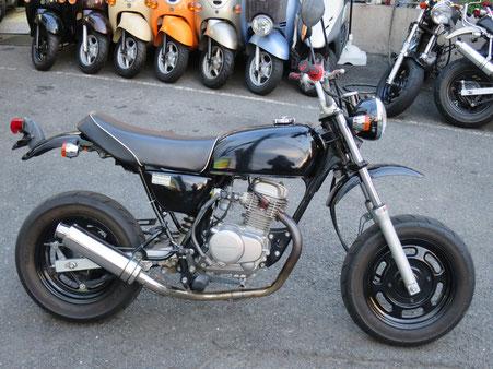 Ape50 黒 ステンマフラー