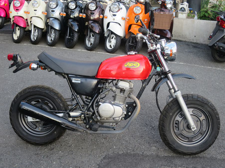 Ape50 黒 赤タンク