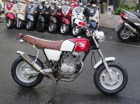 Ape100 CBカラー ヨシムラマフラー