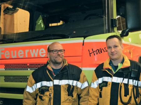 Der neue Feuerwehrkommandant Markus Forrer (links) und sein Stellvertreter Mirko Strik