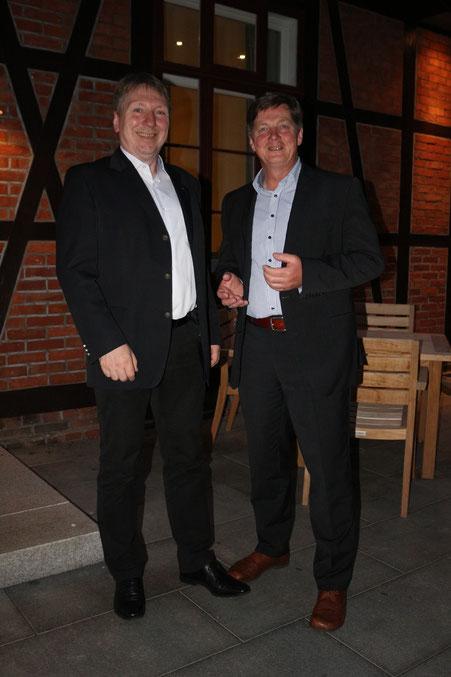Mit Glasermeister Eckhard Pols fand Thorsten viele Gesprächsthemen