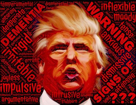 Provokante Fotomontage von Donald Trump