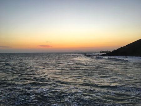 Sonnenuntergang Vietnam Mui Ne Phan Thiet Aroma Beach Resort