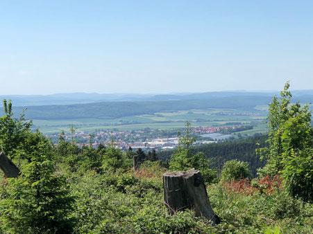 Blick aus dem Harz auf Seesen