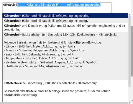 Wörterbuch deutsch-englisch Kältetechnik-Mechatroniker + Klimatechnik (Übersetzungen-Fachbegriffe)