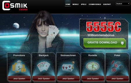 Cosmik Casino Lobby